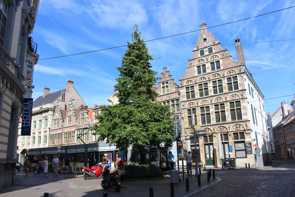 Jan Breydelstraat and Burgstraat Gent